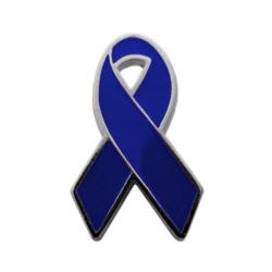 Detalhes do produto Pin Laço Metal Azul